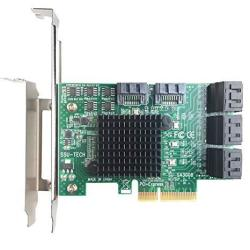 Glotrends Pcie 2 0 X2 To Sata III 8 Ports Adapter Card Asm Chipset For Ipfs  Mining And Adding Sata 3 0 Devices SA3008 | R1709 00 | Hard Drive