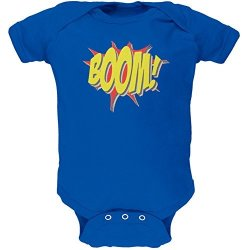 BOOM Comic Book Super Hero Royal Soft Baby One Piece - 12-18 Months