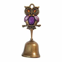 Owl Springy Shopkeepers Bell Entrance Alert Chime Compact & Lightweight Unique Design Home Decoration Doorbell A-type Purple