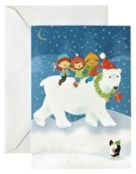Unicef Polar Bear With Kids Christmas Card