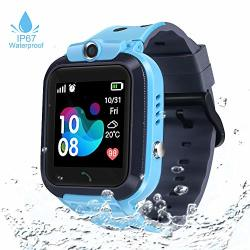 Kids Gps Tracker Smart Watch Waterproof Smartwatch With Two-way Call Sos Alarm Remote Camera Touch Screen Cell Phone Watch For Children Girls Boys Birthday