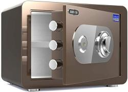 USA Zcf Security Safes MINI Security Safes Machinery And Password Deposit Box For Household Includes Keys Office Hotel Jewelry Use Storage Money Color :
