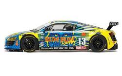 Scalextric Audi R8 Lms Rum Bum Racing 1: 32 Slot Car C3854 Vehicle Replica