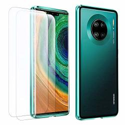 Hikerclub Huawei Mate 30 Magnetic Case With Screen Protector Strong Magnetic Adsorption Aluminum Frame Tempered Glass Back Ultra