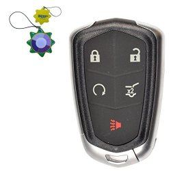 HQRP Remote Key Fob Shell Case Keyless Entry W 5 Buttons For Cadillac Xts 2014 2015 2016 XT5 2017 Plus Uv Meter