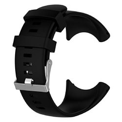 Vovomay Band For Suunto Core Watch Silicone Replacement Band Smart Watch Fitness Strap For Suunto Core A3-BLACK Color