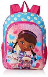 Disney Girls' Doc Mcstuffins Backpack Light Blue pink