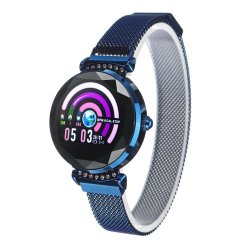 Bakeey H2 Diamond Ips Dial Wristband Heart Rate Menstrual Reminder Stainless Steel Band IP67 Waterproof Female Smart Watch