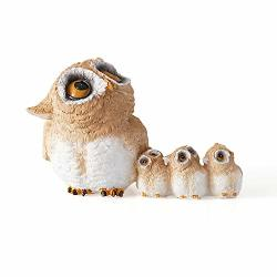 Jinmury Cute Owl Statue Miniature Fairy Garden And Terrarium Owl Family In Nest Decorative Figurine Adorable Owl Gifts Christmas Birthday Gift For Mom Kids