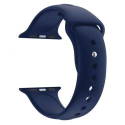 38MM Silicone Apple Watch Strap By Zonabel - Navy Blue
