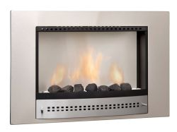 Deals On Chad O Chef Plain Back Picture Gas Fireplace Stainless