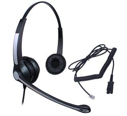 Audicom Wired Call Center Headset Headphone With MIC + Quick Disconnect For  Telephone Aastra 6757I Avaya 1416 2420 5410 Mitel 5330 Nec Aspire DT300 |