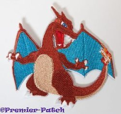 """Premier Patch Charizard Embroidered Iron sew On Patch - 3"""" Pokemon Dragon Badge Applique Costume Cosplay Motif"""