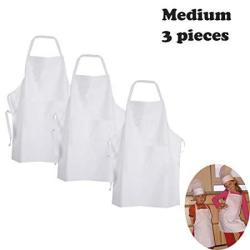 Twinklebelle Design Inc. White Fabric Kidschef Apron To Decorate With Marker Paint Iron On Or Embroidery S: 1-3 Years 1-PC Pack