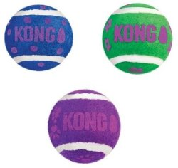 Kong - Cat Toy Tennis Balls With Bells
