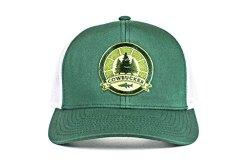 Cowbucker Green white Outdoor Badge Trucker Hat Adjustable Snapback Meshback Cap