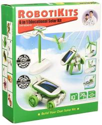 Owi OWI-MSK610 6-IN-1 Educational Solar Kit Includes Airboat Windmill Puppy Car And Planes