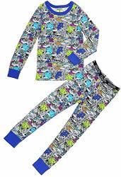 Moodie Pajama Set For Boys - Winter Pajama Top And Pants Set For Boys TODDLER-10 Yrs