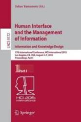 Human Interface And The Management Of Information. Information And Knowledge Design - 17TH International Conference Hci Internat
