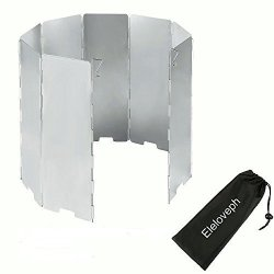 9 Plates Wind Deflectors Foldable Outdoor Camping Gas Stove Wind Shield Scre L/_D