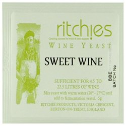 Ritchies Sweet Wine Yeast For 23L 30 Bottles