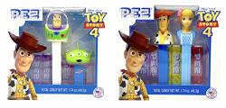 Pez Toy Story 4 Twin Pack Gift Set Of 2 - Includes Woody Bo Peep Buzz Lightyear And Little Green Man Dispensers And 6