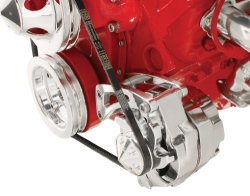 Billet Specialties FM0105PC Short Water Pump Driver Side Low Mount Alternator Bracket For Small Block Chevy