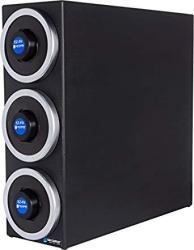"San Jamar C2903 Ez-fit Dimension Polystyrene Beverage Dispenser Cabinet With Metal Finish Trim Rings 7-3 4"" Width X 22-3 8"" Heig"