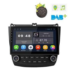 10.1 Inch Android 8.1 Car Stereo Radio Player Wifi Obd Dab Rds Gps For Honda Accord 2002 2003 2004 2005 2006 2007 No DVD