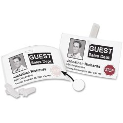 "Dymo Name Badge Labels Adhesv Time Expry 4""X2-1 4"" 220 RL We"
