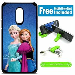 Limited Editions For LG Aristo Aristo 2 Aristo 2 Plus Tribute Dynasty Hybrid Rugged Hard Cover Case - Frozen Elsa Anna
