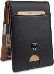 TRAVANDO Money Clip Walletrio Mens Wallet Front Pocket Wallet Slim Wallets Rfid Blocking Credit Card Holder Minimalist MINI Bifold Gifts For Men