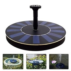 CO Sscci Solar Powered Water Fountain Pump Portable Submersible Free Standing For Bird Bath Small Pond Patio Garden Deration 1.4