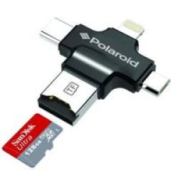Polaroid Corp. Polaroid PCR006 4-IN-1 Microsd Card Reader For Mobile Devices