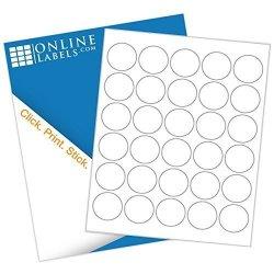 "Online Labels 1.5"" Round Labels - Pack Of 7 500 Circle Stickers 250 Sheets - Inkjet laser Printer -"