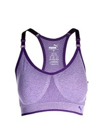 f04742a8c2 Puma Womens Seamless Sports Bra With Removable Cups Purple Medium ...