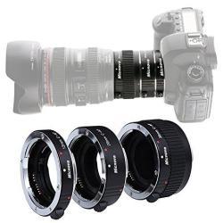 Kooka Micnova KK-C68 Pro Auto Focus Macro Extension Tube Set For Canon Eos Ef & Ef-s Mount 5D2 5D3 6D 650D 750D With 12MM