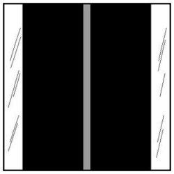 Tabbies Chart Label Tab Black 1-1 2 Inch - 500 Label Per Roll