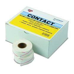 Garvey Products, Inc. Garvey 090954 Two-line Pricemarker Labels 5 8 X 13 16 White 1000 Per Roll Box Of 16 Rolls