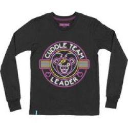 Epic Games Fortnite Cuddle Team Leader Teen Long Sleeve T-Shirt BLACK15-16