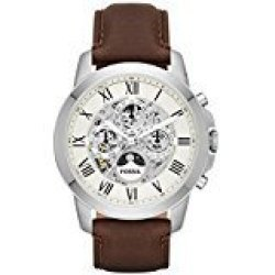 Fossil Men's Me3027 Grant Automatic Watch With Brown Leather Band