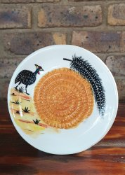 Guinea Fowl African Grater Plate