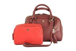 Leather Womans Handbag - Womens Purse - Handbags For Women With Bonus Wallet makeup Bag- Detachable Shoulder Strap Bag For Women