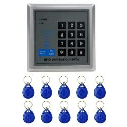 X1 Rfid Single Door Access Control System With Keypad & 10 Id Card Token Keyfobs Support Password & Em Card Reader