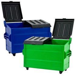 Set Of 2 Dumpster's For Wwe Wrestling Action Figures: Blue & Green