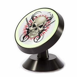Achogi Sugar Skull Music Gutar Magnetic Phone Car Mount Cell Phone Holder 360 Rotate For Universal Car Phone Holder For Any Phone