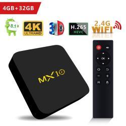 Scs Etc Tv Box - MX10 Android 8 1 Tv Box 4GB + 32GB Rockchip RK3328  Quad-core 64 Bits Support Wifi 100M Lan 3D 4K | R2359 00 | TV Boxes & Media