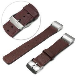 Tuff-Luv Genuine Leather Strap for Fitbit Charge 2 Brown