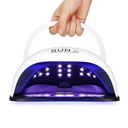 Pavlit LED Nail Lamp 54W Uv Gel Nail Lamp With 36 Beads Lcd Display 10 30 60 99 Seconds Timer Automatic Sensor And Detachable Ma