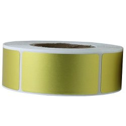 """Hybsk 1X2 Inch Color-code Labels Fluorescent Red Sticker Rectangle 500 Labels Per Roll 1""""X2"""" Gold"""
